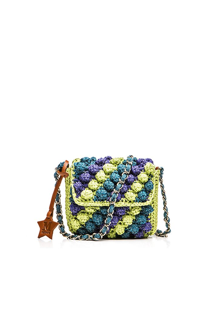M-Missoni - MINI BORSA IN RAFIA MULTICOLOR