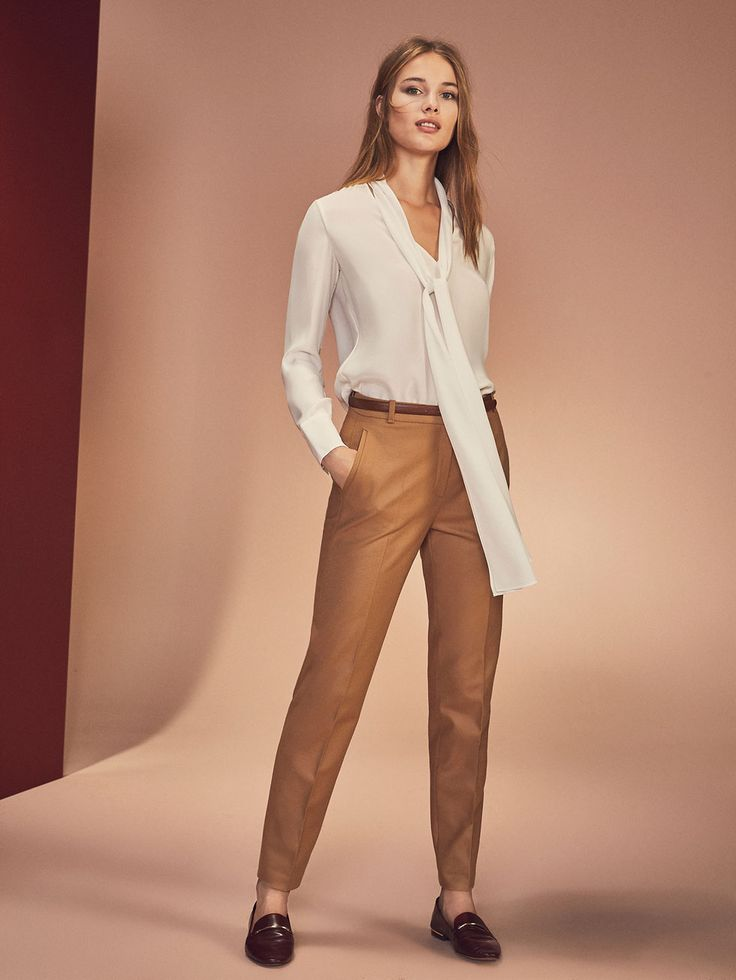 Autumn Spring summer 2017 Women´s WOOL CAMEL COLOUR TROUSERS at Massimo Dutti for 65.5. Effortless elegance!