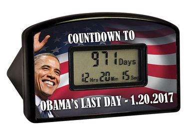 I have to have this! LOL!  https://jet.com/product/Barack-Obama-Countdown-Clock-2017-Track-the-Final-Day-Right-Down-to-the-Min/3a88fffc9a8649c1bfbb945f1501ea73