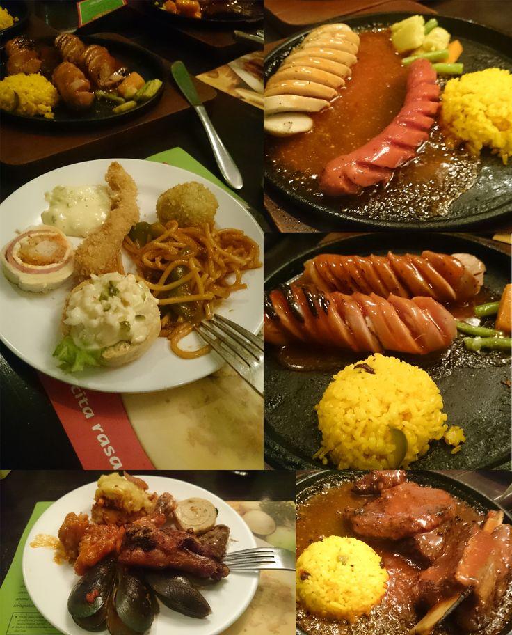 Restauran All you can eat in Surabaya Indonesi. This Pronto resto Italian food.   #italianfood #allyoucaneat #surabayakuliner #food #delicious #yummy #beef #sausage #maincourse #steak #lamp