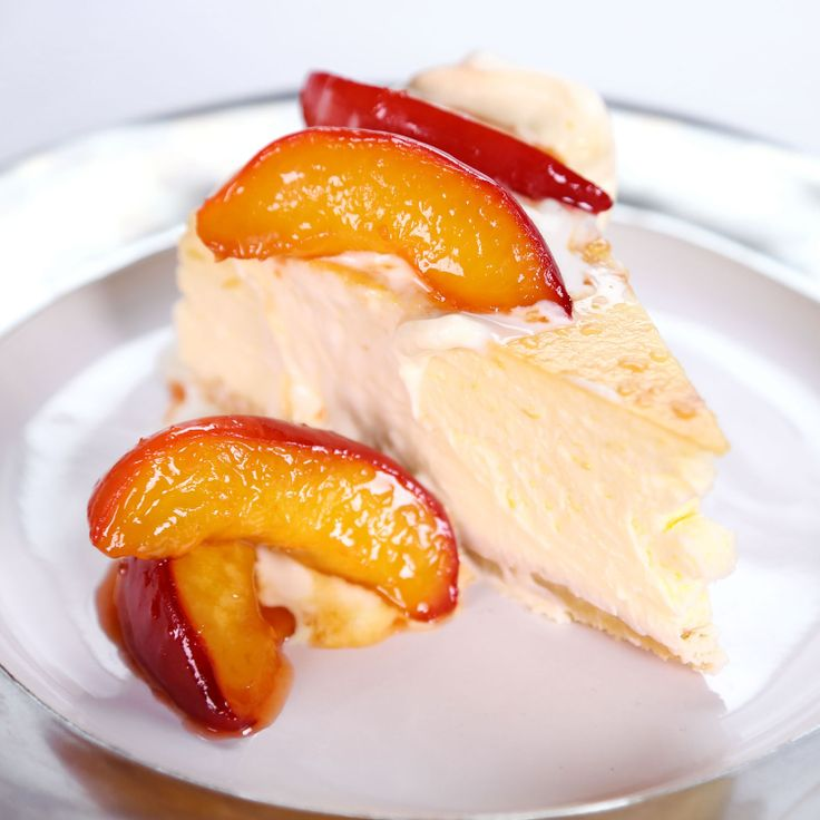 the chew | Recipe  | Carla Hall's Peaches N' Cream Cheesecake