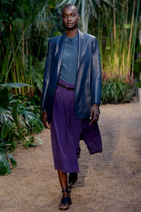 Mysterious blue on purple... it works. Hermès Spring 2014 Ready-to-Wear Collection Slideshow on Style.com #fashion #design #runway