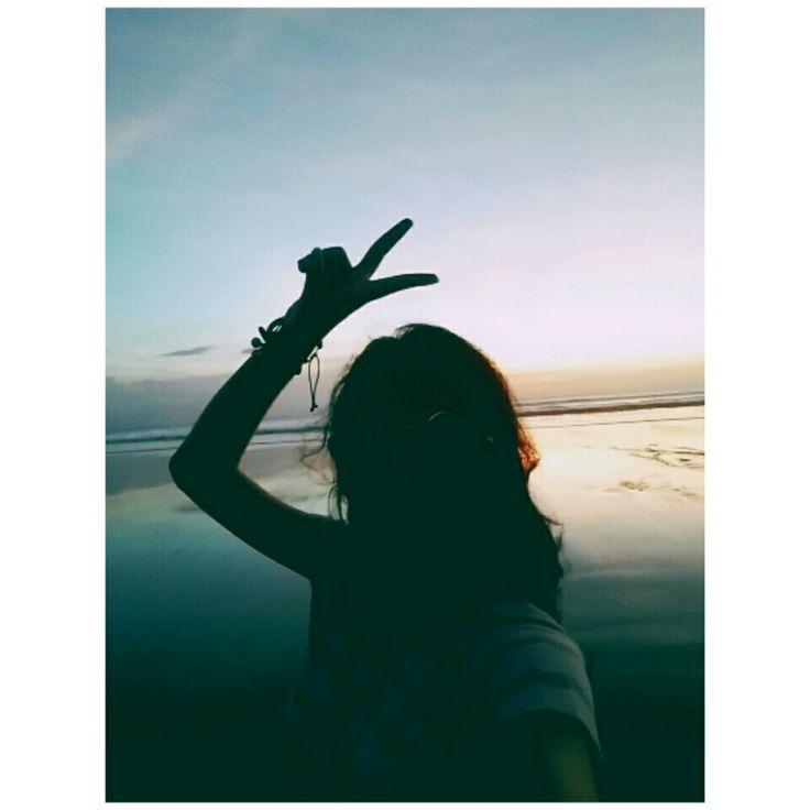 #sunset #bali #kuta #indonesia #fashion #girl