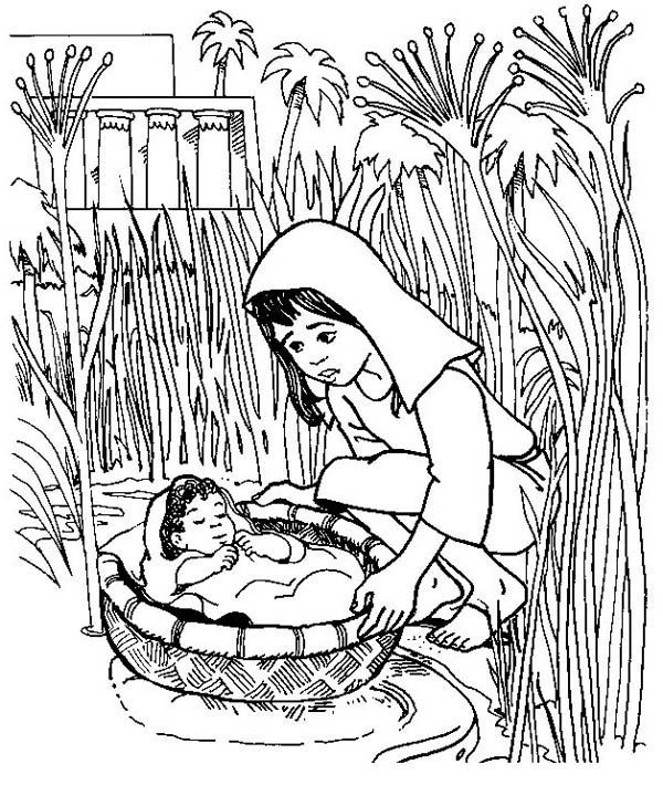 The 25 best baby moses crafts ideas on pinterest baby for Bible coloring pages moses