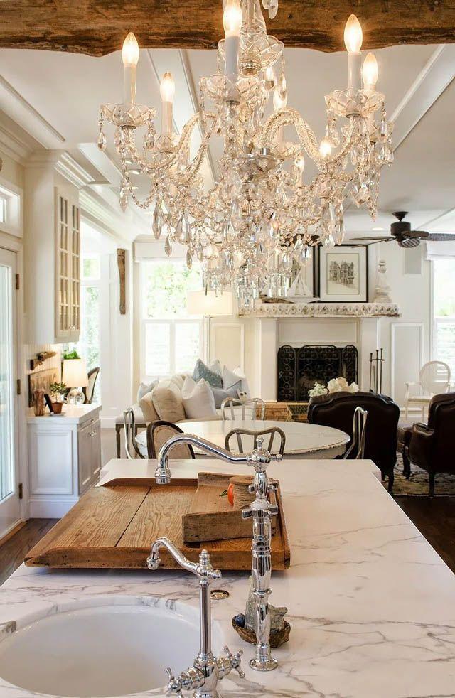 {a glamorously rustic kitchen ...} Californian homeowner Shawna Mullarkey