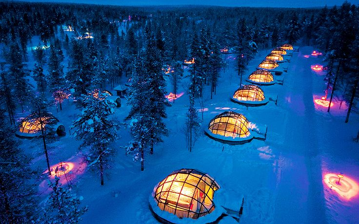 See the Northern Lights from inside an igloo