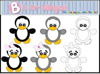 My first clip art set!This set includes 6 penguins images as shown.The images are both color and black & white.Have fun!