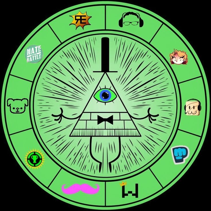 Gravity Falls - Bill Cipher Wheel(Youtube edition) by Alice1Tennant on…
