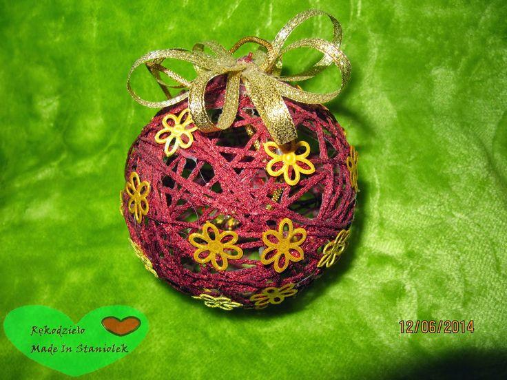 RĘKODZIEŁO  MADE BY STANIOLEK: Bombka na balonie:)