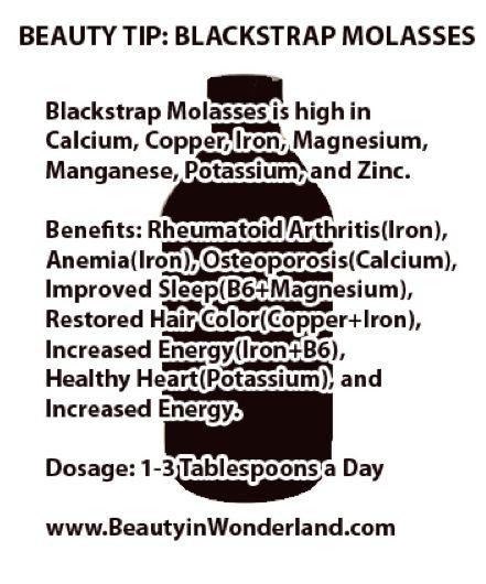 molasses health benefits | THE BEAUTY BENEFITS OF BLACKSTRAP MOLASSES - BEAUTY IN WONDERLAND ...