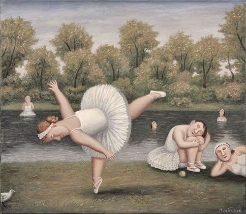 'Adagio' (2012) by Russian painter Vladimir Lubarov (b.1944). Oil on canvas, 27.5 x 31.5 in. via ArtRussia