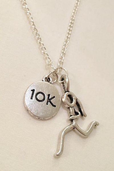 9.99$ Running Girl + Charm (5K, 10K, Marathon or Gotta Run) Necklace | Motivational Fitness Jewelry - Miss Fit Boutique