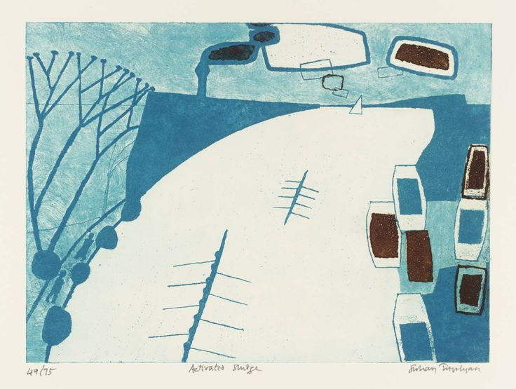 Julian Trevelyan 'Activated Sludge', 1971 © The estate of Julian Trevelyan