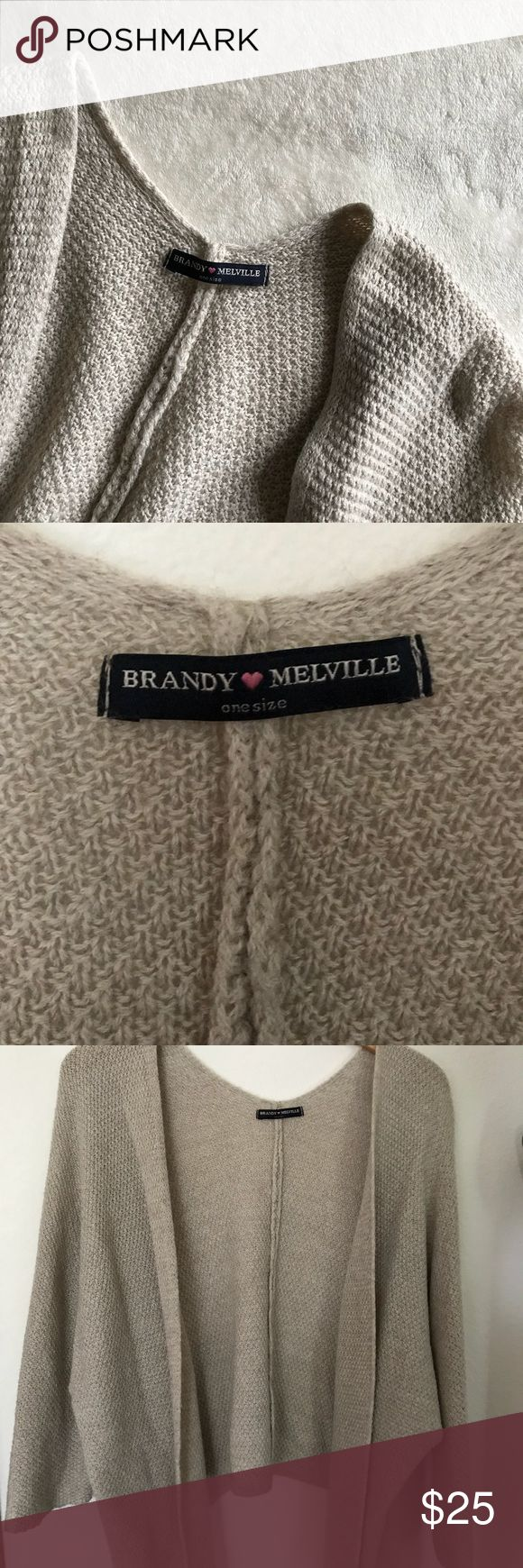 Brandy Melville Cardigan •Tan cardigan •One size •Flowy & comfortable!  •Knitted with no flaws •Open to offers! Brandy Melville Sweaters Cardigans