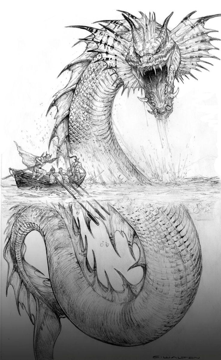 Palladium Fantasy Jormund Serpent by ChuckWalton.deviantart.com on @DeviantArt