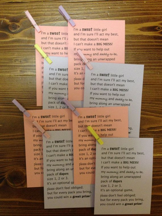 40 Diaper Raffle Poem Invitation Inserts  by CreationsbyAshleyC, $13.00