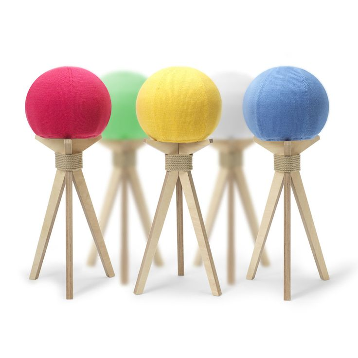 Dandelion Stool by Byung from DesignK with a wonderful assortment of colours.