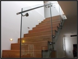 Oz Stair Hardwood and Glass