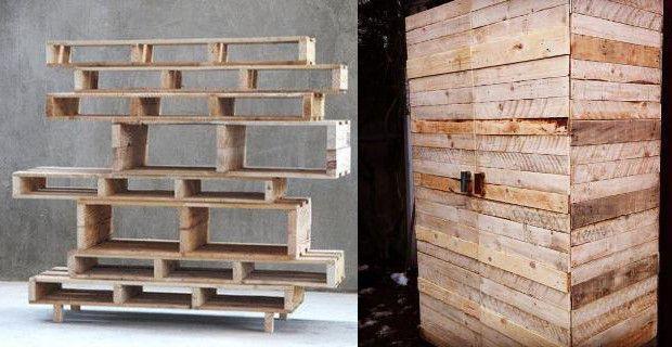 Ideas de proyectos para hacer un armario con palets de - Ideas para hacer muebles con palets ...