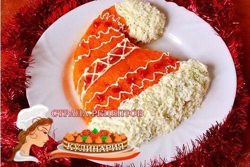 """Салат Оливье """"Шапка Деда Мороза"""" - Простые рецепты Овкусе.ру"""