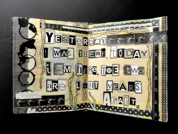 Ingrid Dijkers - Ransom Style Lettering - File Folder Journal #3