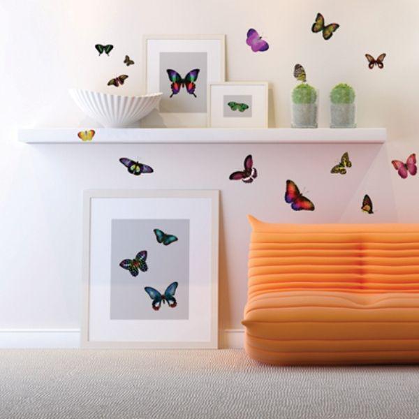 "Виниловые наклейки ""Сказочные бабочки"" http://decoretto.ru/babochki-dekor-sten-babochkami/skazochnyie-babochki/"
