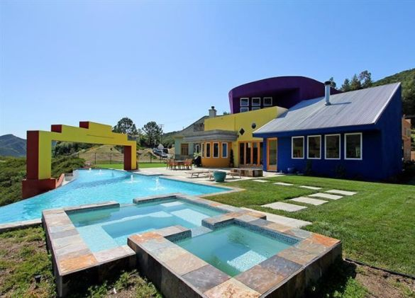 Incredible pool with a technicolor to home to add!: Cartoon Houses, Dreams Houses, Southern California, Agoura Hill, Real Estates, California Photos, 2401 Kanan, Awesome Pools, Infinity Pools