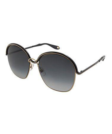 17ce5c69888c Gold-Black   Dark Gray Browline Sunglasses  zulily  zulilyfinds ...