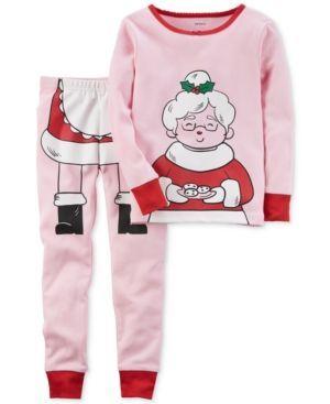 Carter's 2-Pc. Mrs. Claus Cotton Pajama Set, Little Girls (4-6X) & Big Girls (7-16) - Multi 6