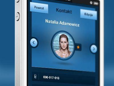 mobile: contact page