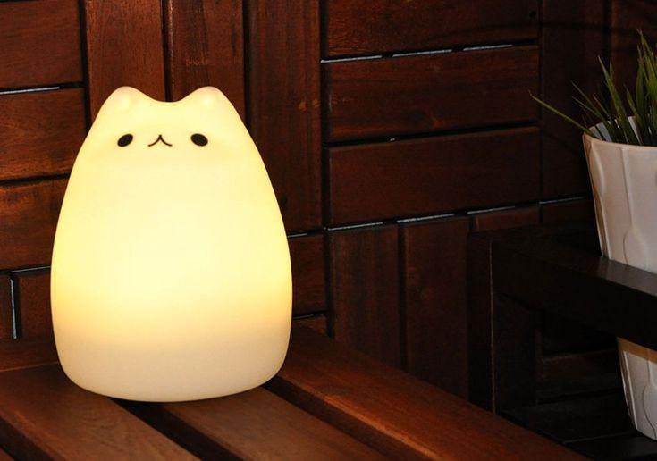 chat led lumineux blanc