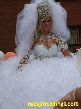66 best Terrible Horrible Gypsy Wedding Dresses images on