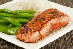 Salmon Fillets with Garlic-Soy Pan Sauce: This quick and easy recipe for salmon fillets and a tangy pan sauce made with garlic, lime juice, soy sauce and brown sugar is delicious served with steamed white rice and stir-fried sugar snap peas.