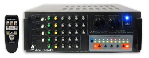 Martin Roland MA-3000K 600 Watts Professional Digital Mixing Amplifier by Hisonic. $399.99. Martin Roland (Acesonic) MA-3000K 600 Watts Professional Digital Mixing Amplifier If you are looking for the professional karaoke mixing amplifier for your bar or club, look no further than Martin Roland's MA-3000K 600 Watts Professional Digital Mixing Amplifier. Designed by German engineer, Martin Roland is known for its quality and durability. This professional mixing ...