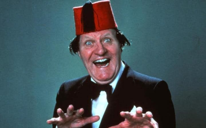 'Two cannibals were eating a clown – one said to the other, 'Does he taste funny to you?' Tommy Cooper (1921-1984)