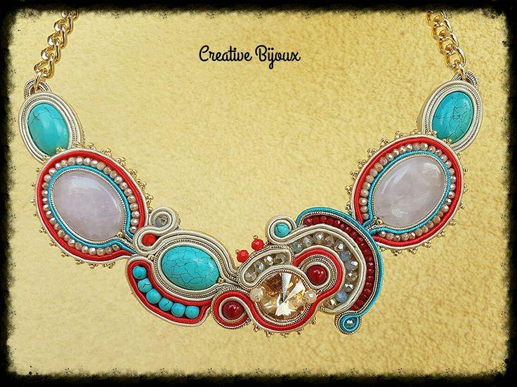 Soutache necklace CreativeBijoux