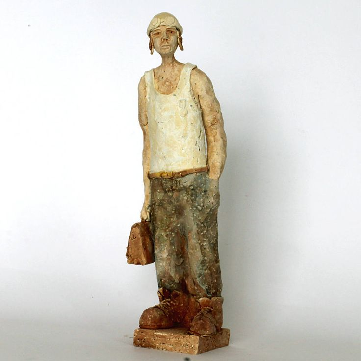 Decorated man of the road, Ceramic Sculpture, Unique Ceramic Figurine, Art by arekszwed on Etsy