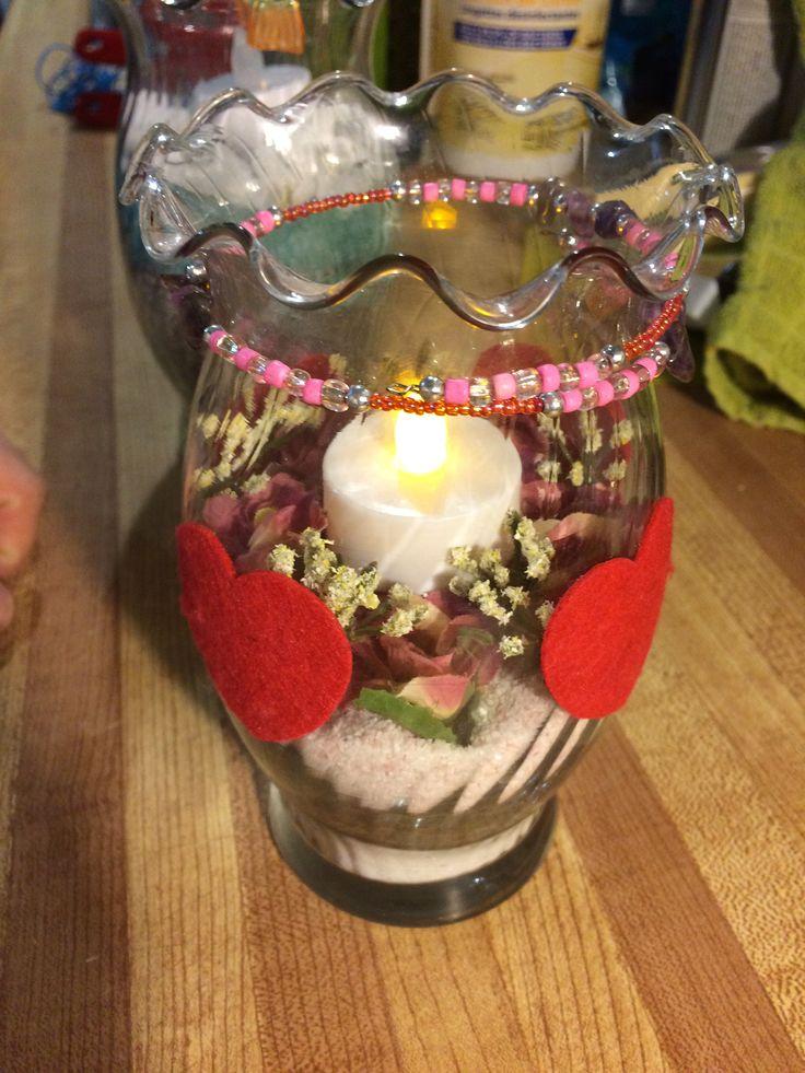 Led candle centrepiece