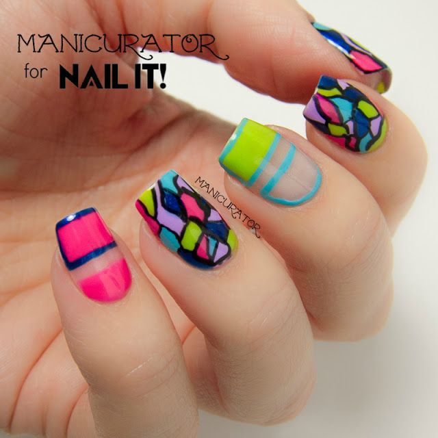 Stained Glass Nail Art: 155 Best Images About Stained Glass Nail Art On Pinterest