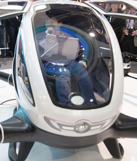 The Ehang 184, the eponymous giant, 500-pound drone