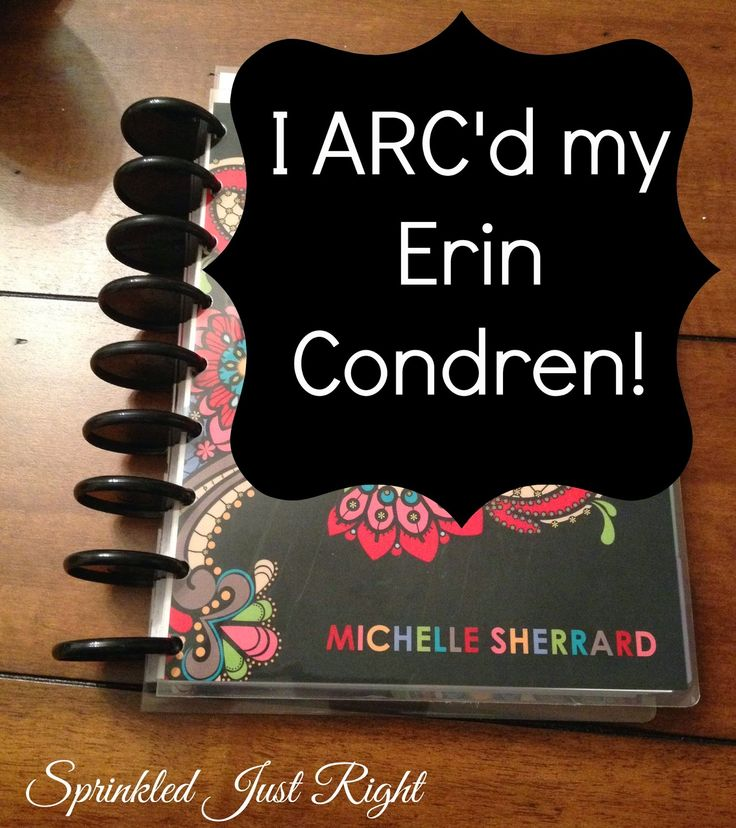 Come check out just how I ARC'd my Erin Condren....I think I am going to ARC mine this weekend :)