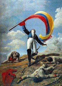 La muerte de Girardot en Bárbula - Óleo de Cristóbal Rojas.