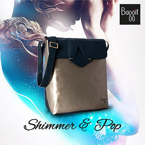 Stay on trend this Fall/Winter Season with a shimmering metallic sling bag that enables to seamlessly transform from day to night. This one will not last long, so wait no further and pick this today. Available at all Baggit Exclusive Stores and www.baggit.com  Shop Here :http://goo.gl/ZDvFIw MRP : Rs 2725/-