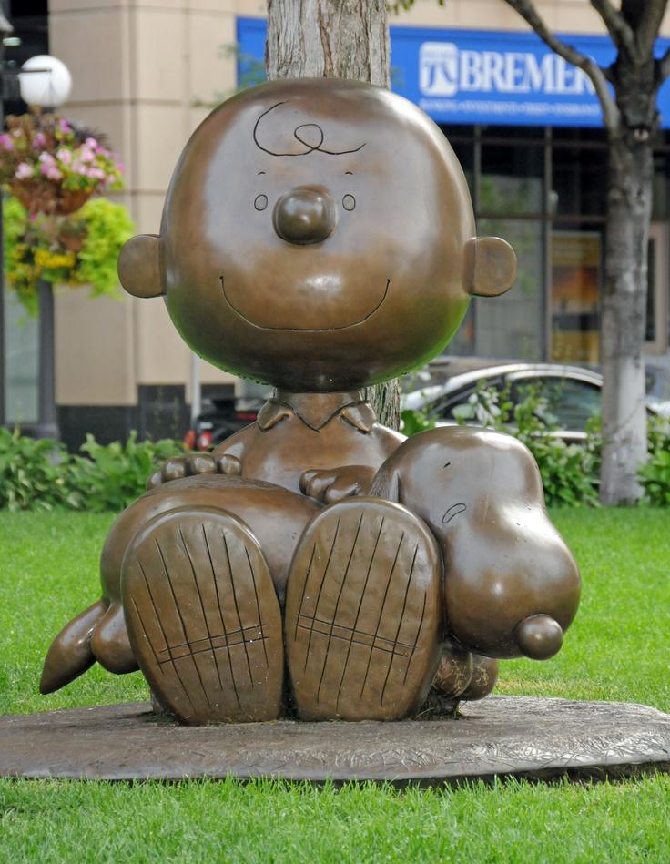 Charlie Brown & Snoopy by Tivoli Too at The Landmark Plaza and Rice Park, St. Paul, Minnesota  #ONLYinMN
