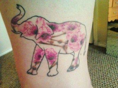 i like this idea but put paisleys in it: Elephants, Tattoo Ideas, Pattern, Elephant Flower, Body Art, Elephant Tattoos, Ink