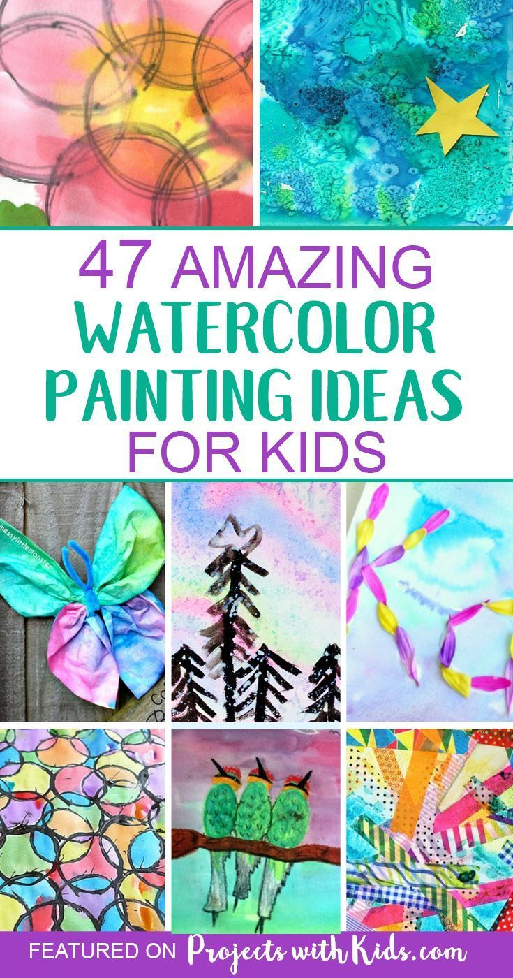 47 Creative Watercolor Painting Ideas Kids Will Love Painting