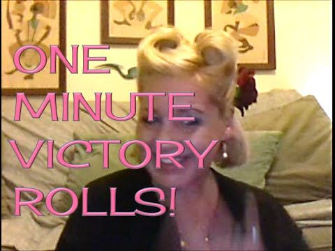 1 MINUTE, SUPER EASY VICTORY ROLLS: TUTORIAL (An Ultimate Fashion History Tutorial) - YouTube