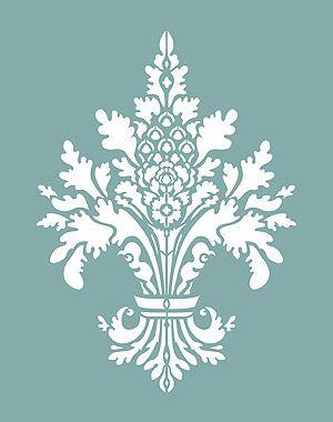 Damask Fleur de Lys Stencil Damask Stencils
