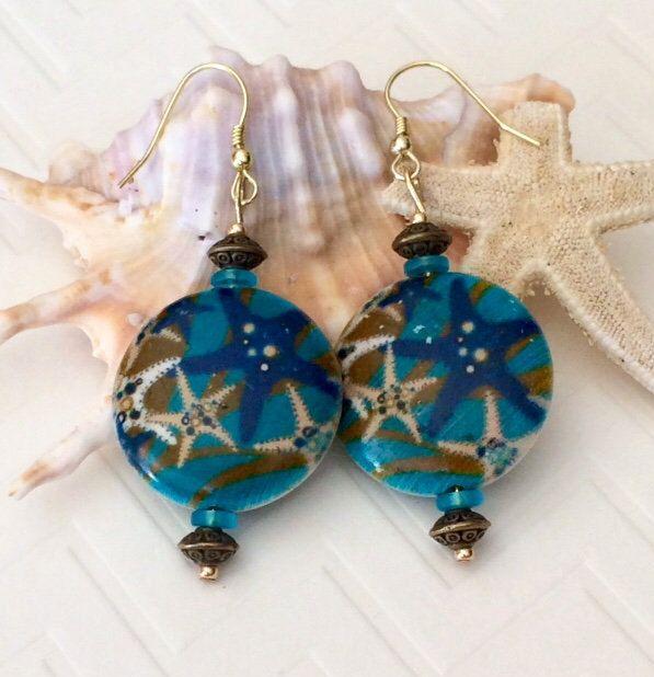 Starfish Dangle Earrings etsy.me/2DOffEa now available in my #etsyshop #starfish #starfishearrings#earrings #dangleearrings #bohoearrings #bohodangles #bohostyle #bohchic #nature #sealover #ocean #beach #summer #tropical #statementearrings #giftforer #integritytt