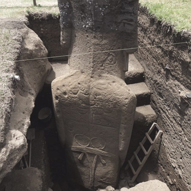 Easter Island Heads Have Bodies Bbc